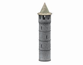Stone tower v2 3D model