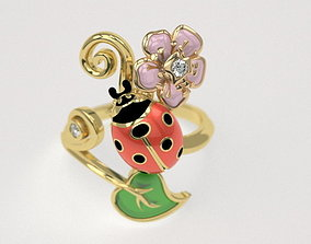 3D print model Ladybug ring - original