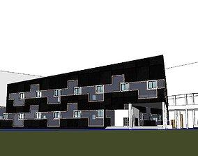 Office-Teaching Building-Canteen 54 3D