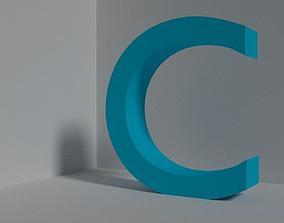 3D model Letter C - font