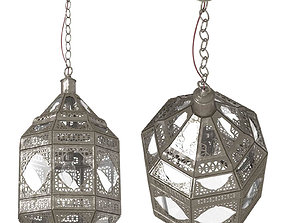 Moorish Moroccan Clear Glass Lantern 3D