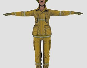 Fire Fighter character 3D model