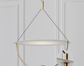Modern White 16 inch LED Pendant Chandelier 3D model