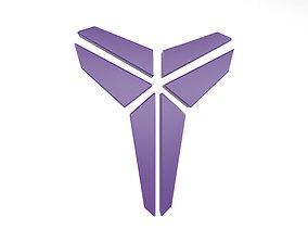 Black Mamba Logo v1 001 3D asset