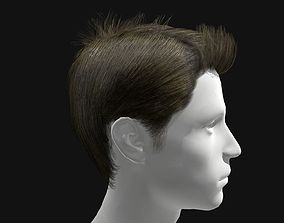 3D model Male Spiky Hairstyles