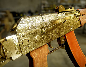 3D model Gold AKS-74U