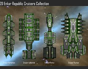 2D Enkar Republic Cruisers Collection 3D