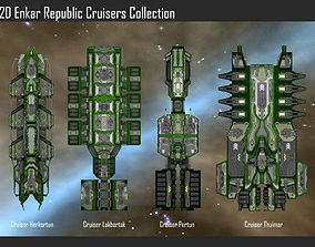 2D Enkar Republic Cruisers Collection 3D