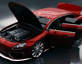 3D model Generic Mid Size 4 Door Sedan