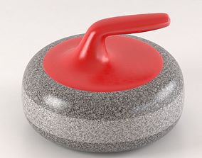 Curling stone 3D model sports