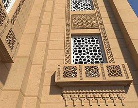 Mosque window 3D asset