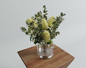 3D model Banksia Vase arrangements set plant