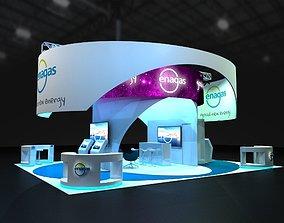 Exhibition Stand 11x9 3D asset