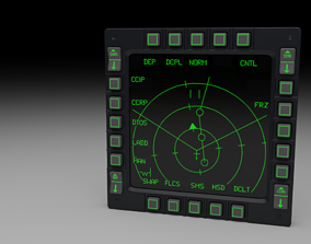 3D model F16 Multi Function Display