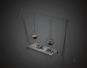 3D asset MVL - Cooking Station - PBR Game Ready