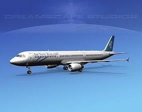 Airbus A321 Air New Zealand 3D