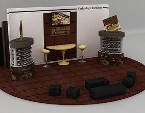 3D model Chocolate Firm Fair Stand 14