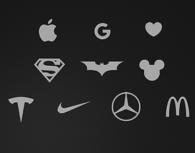 10 Famous Logos 3D Printable Pack