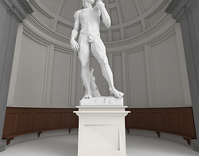 Low Poly Statue of David 3D model