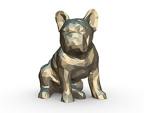 bulldog low poly 3D print model