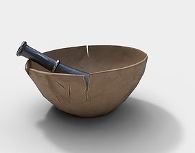 3D model Stylized Mortar and Pestle
