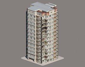 3D asset Apartment Building Low poly