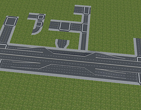 Modular Road and Highway Pack 3D asset