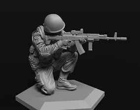 Modern soldier 2 52mm 120mm 3D print model