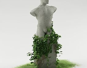 3D Statue with ivy