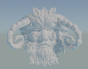 Greenman Mask 3D print model