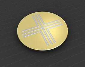 jesus silver 3D print model Cross Medallion
