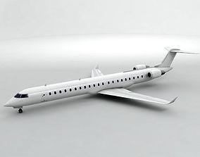 3D asset Bombardier CRJ -900 - Generic White