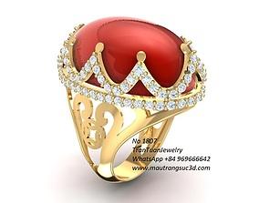 3D print model 1807 Ruby Ring