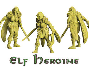 3D print model Heroine of wood elf