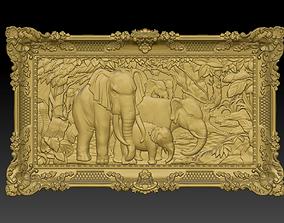 nature 3D print model Elephants