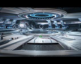 3D Sci Fi Hangar Interior game ready game-ready 2