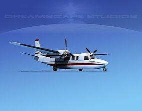 Rockwell Turbo Commander 690 V12 3D model