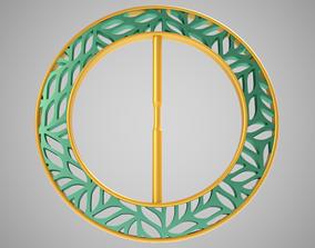 3D asset Leafy Belt Buckle