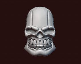 3D printable model Skull stylized teeth
