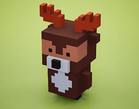 3D asset Voxel - Deer