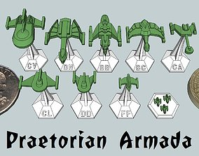 3D printable model MicroFleet Praetorian Armada Starship