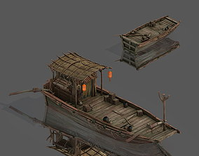Game Pier - Wooden Boat 3D
