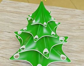 Stylish christmas tree 3D print model