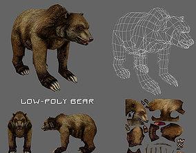 Bear low poly 3D model