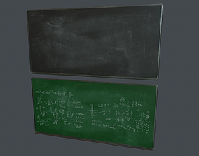 Blackboard Pack PBR Game Ready 3D model