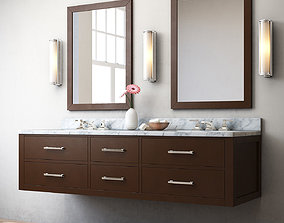 3D HUTTON DOUBLE FLOATING VANITY