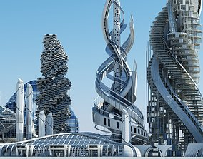 Futuristic Skyscrapers 3D