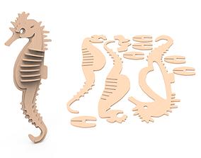 Sea horse KIT 3D print model