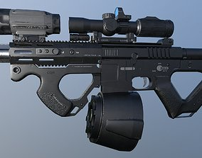 AR-15 Low Poly 3D model