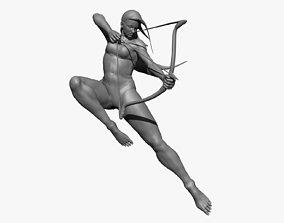 3D Female Archer